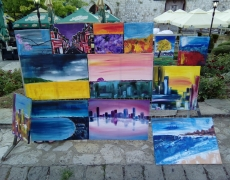 My Paintings at Nisville Jazz Festival